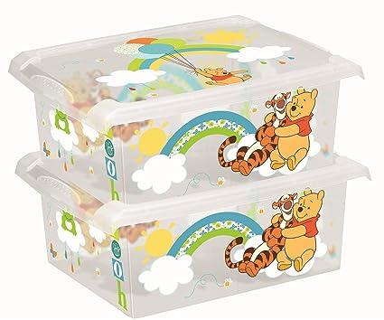 2 Cajas para juguetes de Disney Winnie The Pooh, ...