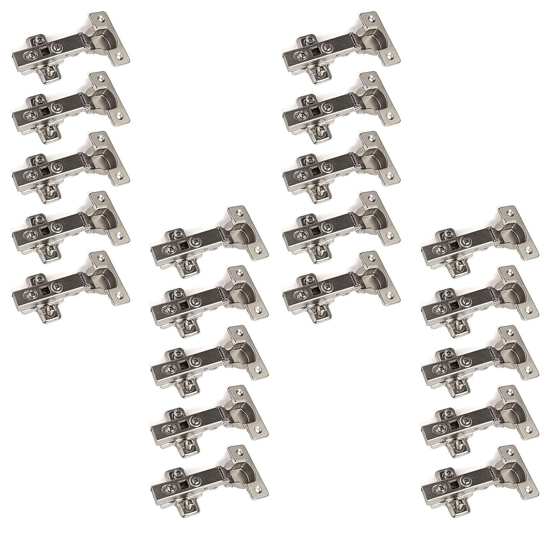 20 x SO-TECH® Topfband Topfbänder T45 Eckanschlag mit Dämpfer + ...