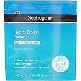 Neutrogena Hydro Boost Moisturizing & Hydrating 100% Hydrogel Sheet Mask, Face Mask for Dry Skin with Hyaluronic Acid, Gentle