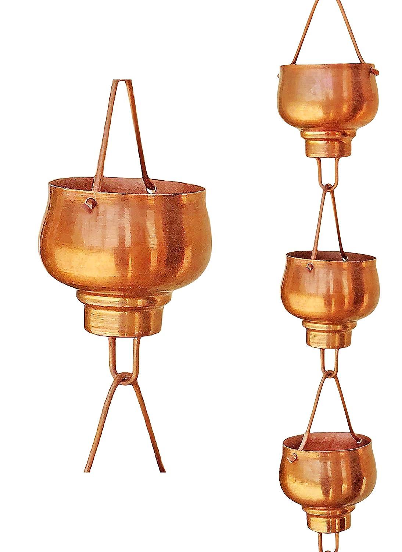 Monarch Pure Copper Hibiki Rain Chain, 8-1/2 Feet Length Monarch Int'l Inc. 10008