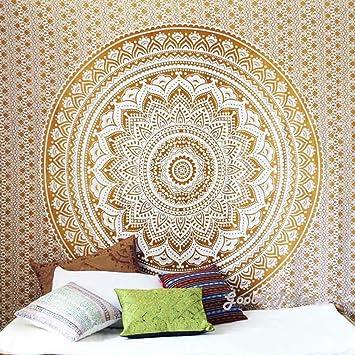 Quilts, Bedspreads & Coverlets New Fashion Ombre Mandala Wandbehang Tagesdecke 100% Baumwolle Yoga Deko Tuch 213x238 Cm Home & Garden