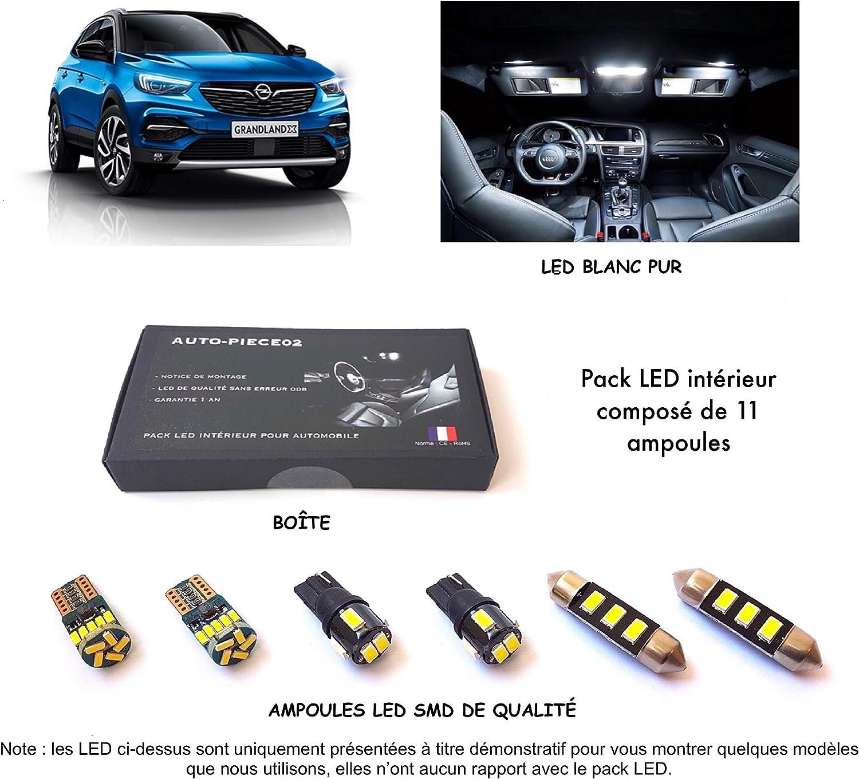 Kit ampoules blanc pur Pack FULL LED int/érieur pour Grandland X