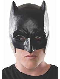Rubies Costume Men's Batman V Superman Dawn of Justice Adult Half Mask Black