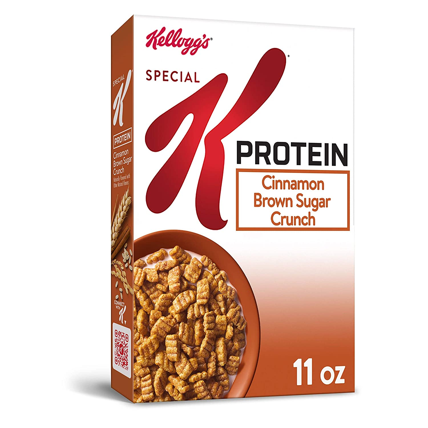 Kellogg's Special K Protein, Breakfast Cereal, Cinnamon Brown Sugar Crunch, Made with Complete Protein, 11oz Box