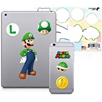 Controller Gear Officially Licensed Super Mario - Character Tech Decal Pack - Luigi - Nintendo Wii; GameCube