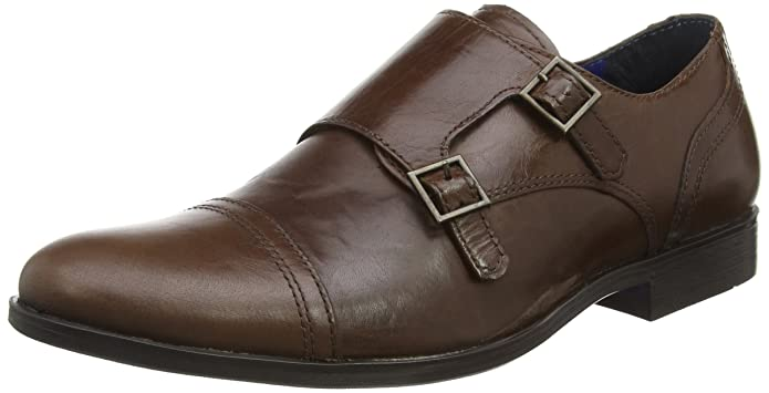 Red Tape M18855, Zapatos Monk Strap Hombre, Negro (Negro), 42 EU