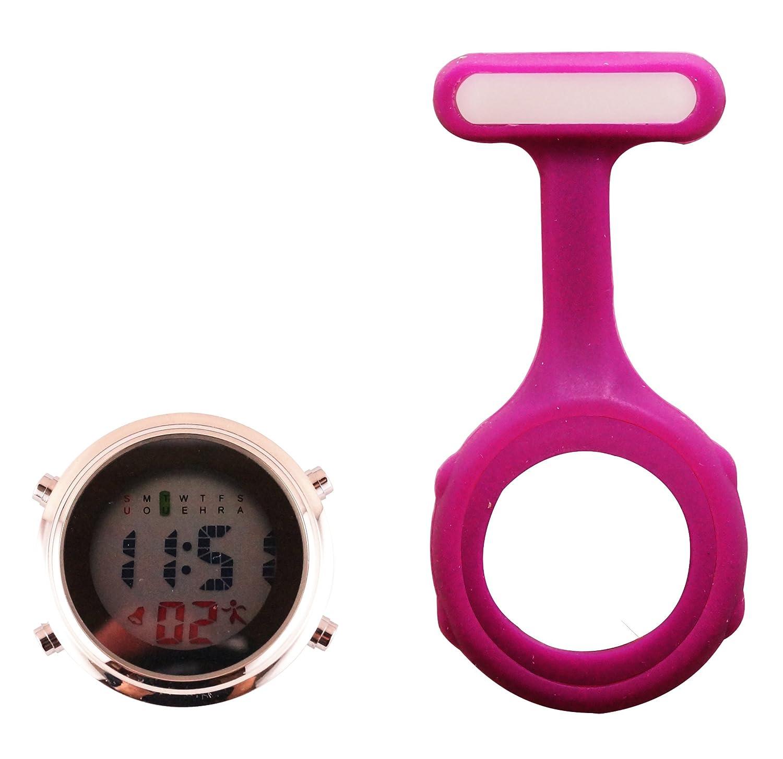 Ellemka JCM-330 Reloj de Enfermera Digital Moviemento de Cuarzo Multi-Funcional Programable con la Broche FOB de Silicona Goma Doctor Para-Médico Color ...