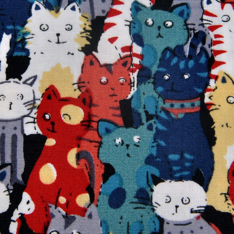 trendy multicololoured handkerchiefs or pocket handkerchiefs for men and women ultiMade cotton Design Cats III