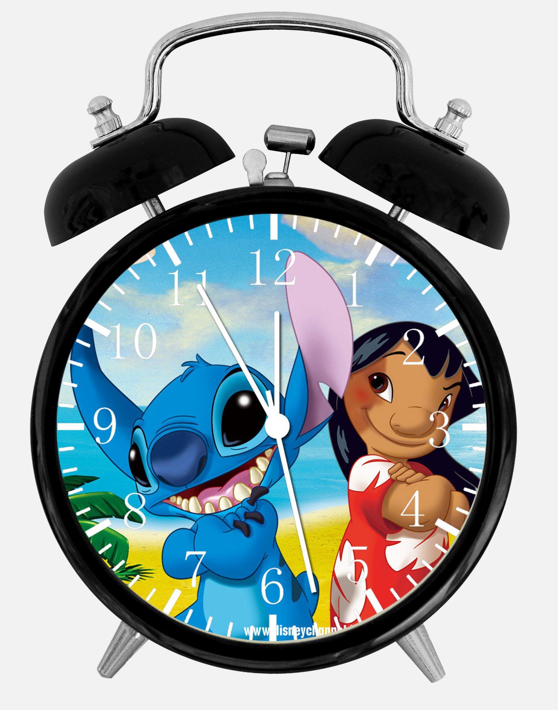 Lilo & Stitch Alarm Desk Clock 3.75'' Home or Office Decor E155 Nice For Gift