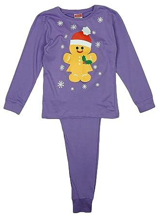 Festive Friends Girls Baby Toddler Gingerbread Man Christmas Pyjamas