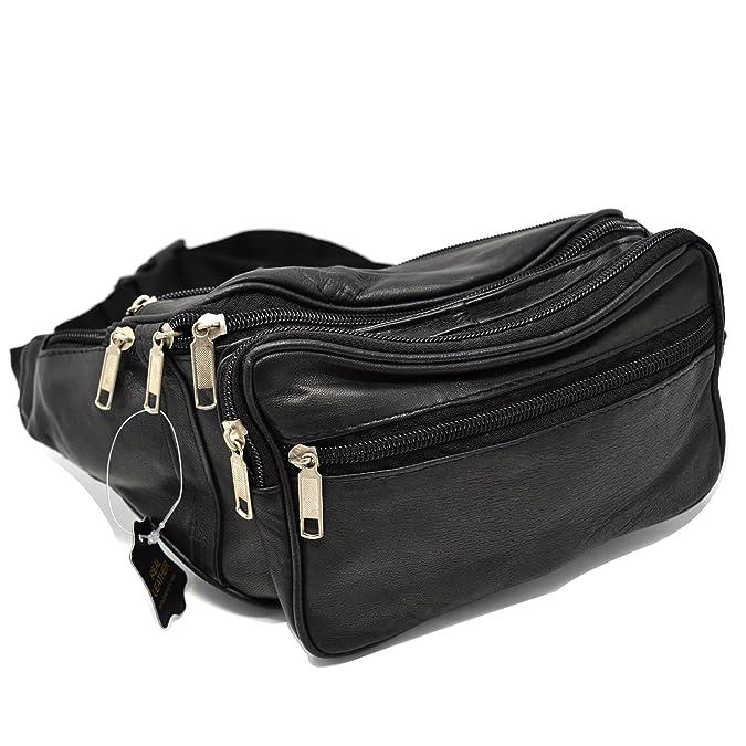 Bolsa de cuero de la cintura Bum bolsa de viaje Pack bolsa 5 cremalleras: Amazon.es: Zapatos y complementos