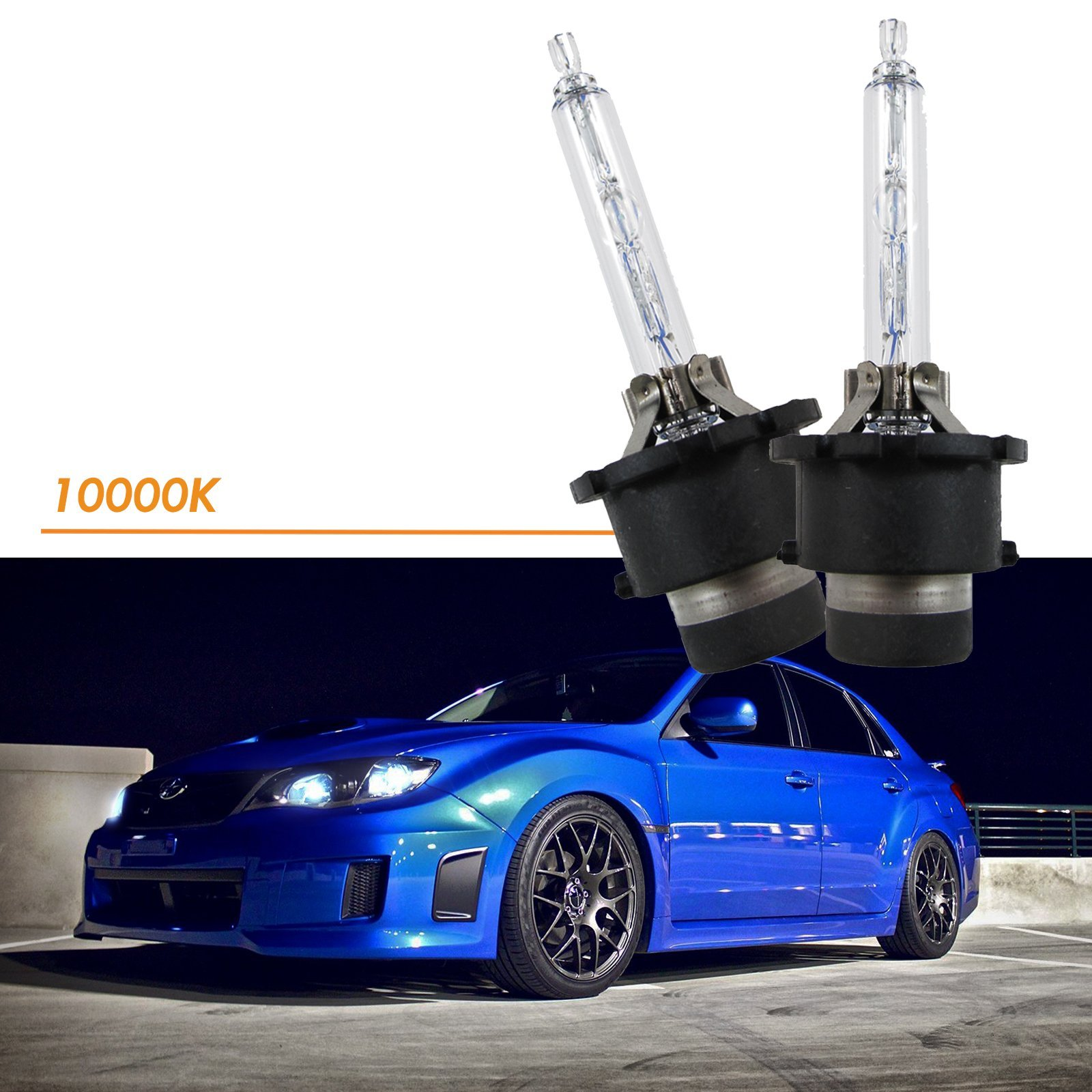Xotic Tech D4S D4C D4R 10000K Xenon Bright HID OEM Direct Headlight Low Beam Bulb Replacement, Cool Deep Blue