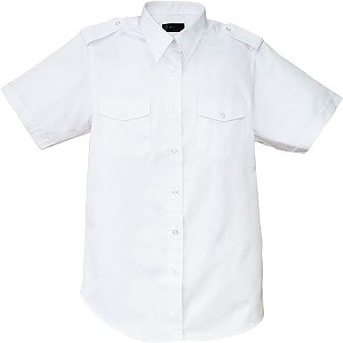 Aero Phoenix Elite - Camisa de piloto de Manga Corta para Hombre - Blanco - 42: Amazon.es: Ropa y accesorios