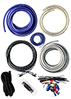 SoundBox Connected 4 Gauge True AWG Amp Kit Amplifier Wiring Complete Install Kit Cables 3000 Watt Peak Power Handling, Blue