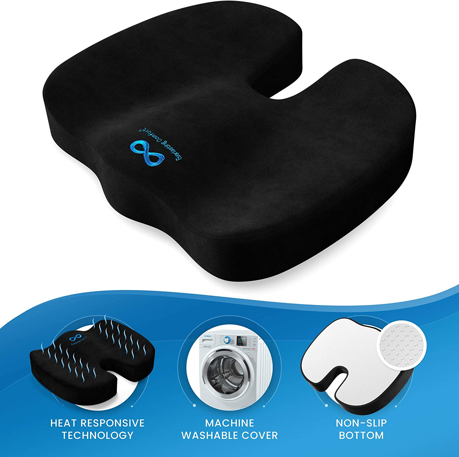 81n9KkeABAL. AC SL1500 - What Is The Best Car Seat Cushion For Leg Pain? - ChairPicks
