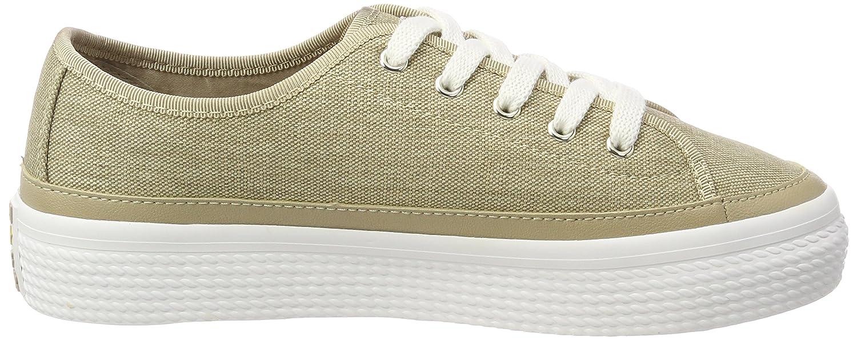 Tommy Hilfiger Sneaker »glitter Textile Flatform Sneaker«, Natur, Sand