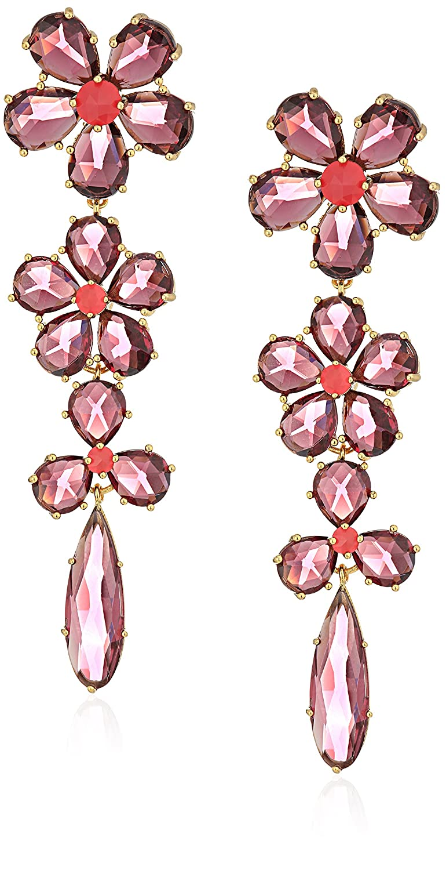 717e281ad7ef Amazon.com: kate spade new york Linear Statement Berry Drop Earrings:  Jewelry