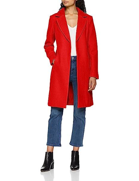Only Onlrachel Wool Coat CC Otw, Abrigo para Mujer, Rojo Goji Berry, 38
