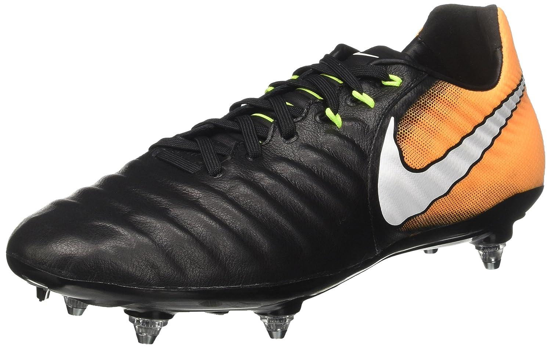 Nike Herren Tiempo Legacy III SG Fußballschuhe Schwarz (schwarz Weiß-Laser Orange-Volt) 42 EU