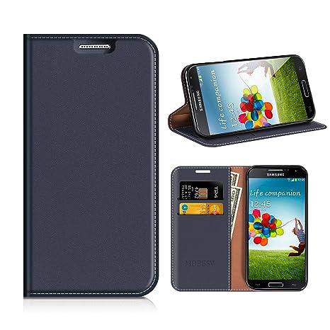 MOBESV Funda Cartera Samsung Galaxy S4, Funda Cuero Movil ...