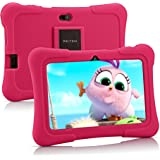Pritom 7 inch Kids Tablet | Quad Core Android,1GB RAM+16GB ROM | WiFi,Bluetooth,Dual Camera | Educational,Games,Parental Cont