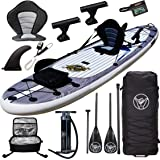 """Premium Inflatable Stand Up Paddle Board - 11'6"""" x 32"""" x 6"""" - Complete Fishing & Touring Inflatable Paddle Board Kit - Includ"""
