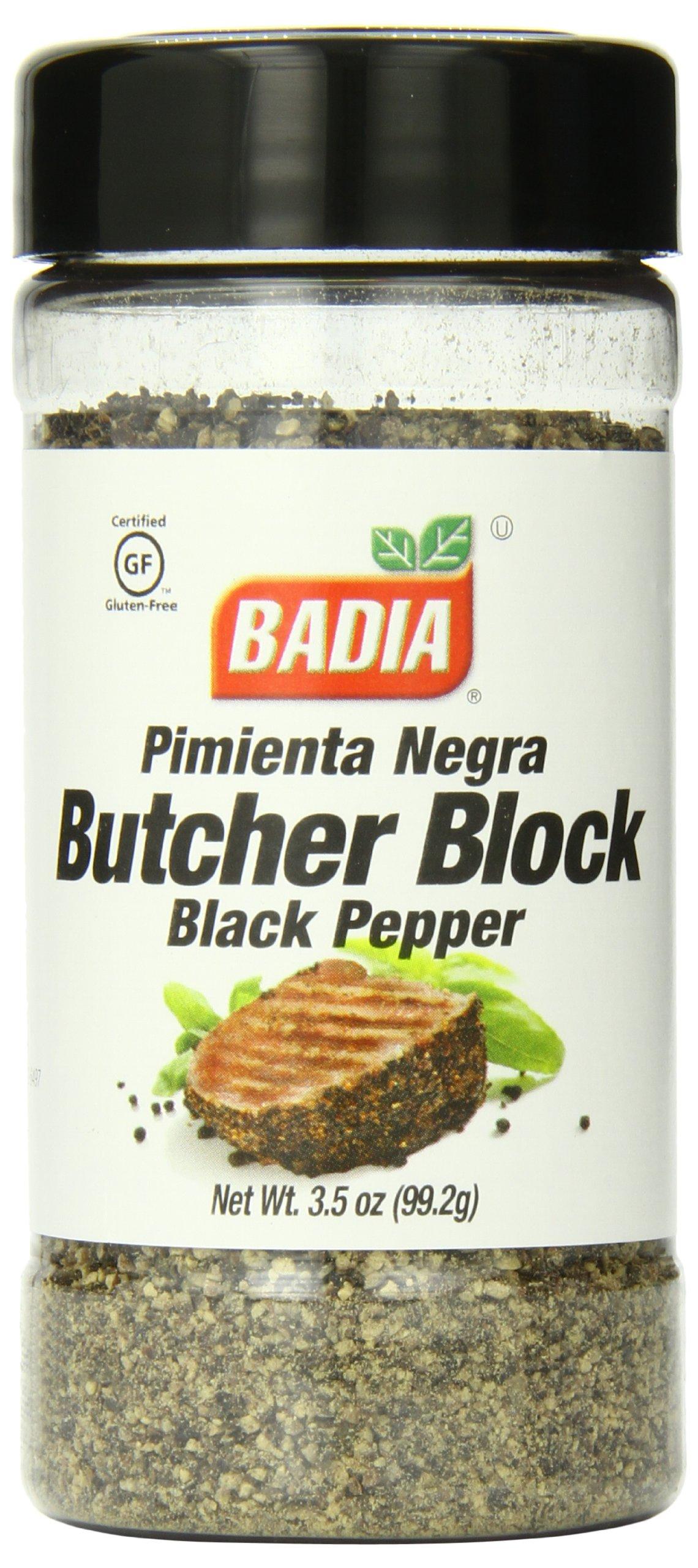 Badia Black Pepper Butcher Block, 3.5 Ounce (Pack of 12)