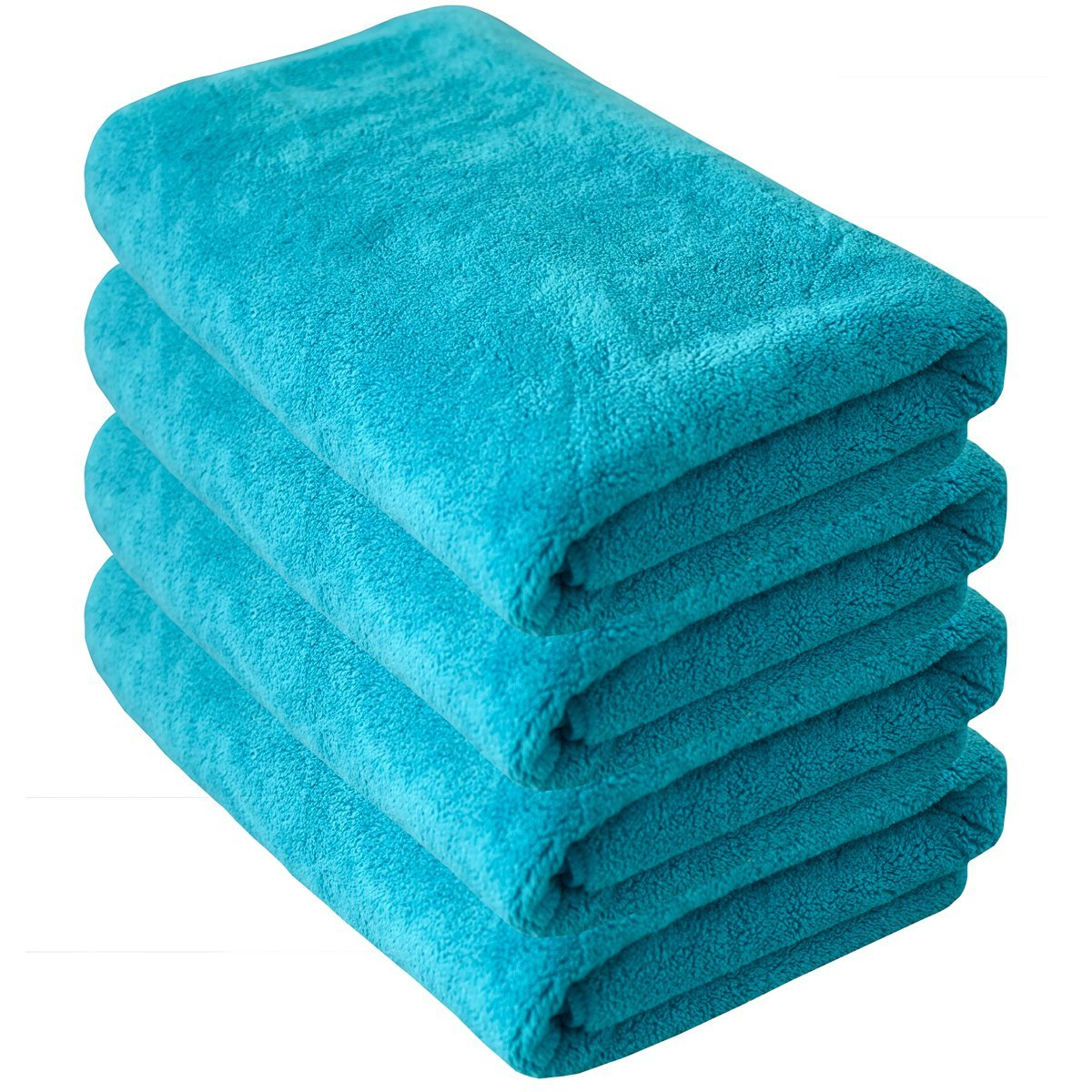 DEYI Premium Soft, Highly Absorbent Quick Dry Bath Hand Towel Set for Swimmers, Lightweight Hotel & Spa Towel Set (Bath Towels - Set of 4, Lake Blue)