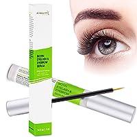 Eyelash Serum Biotin Eyebrow Serum, Lash Boost, Longer and Thicker Looking Lashes and Eyebrows, Enhancer With Biotin, Castor Oil, Vitamin E - Pureauty Naturals - 4ml