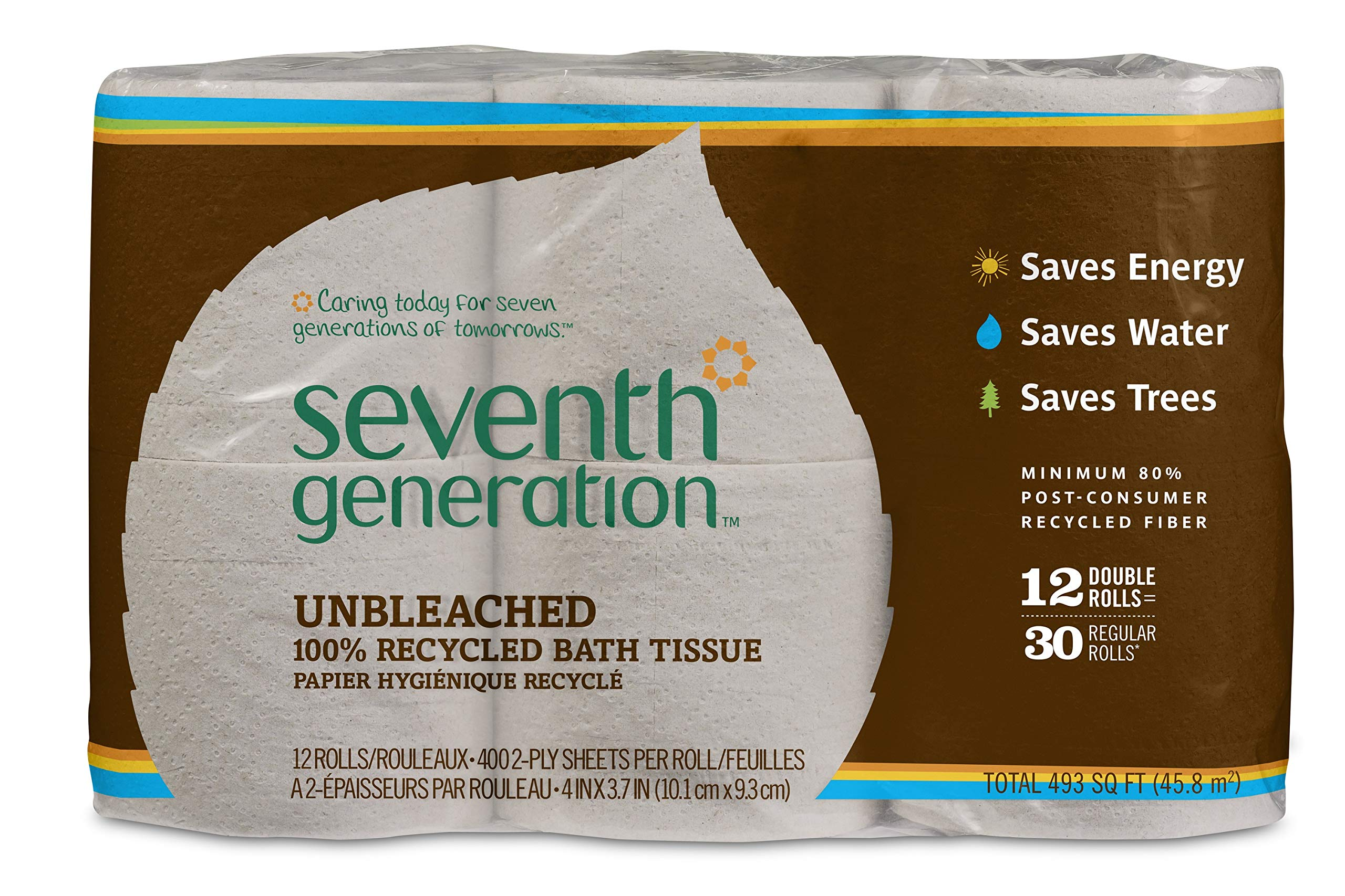 Seventh Generation Unbleached Bathroom Tissue Roll, 12-Count (Pack of 4) by Seventh Generation (Image #5)