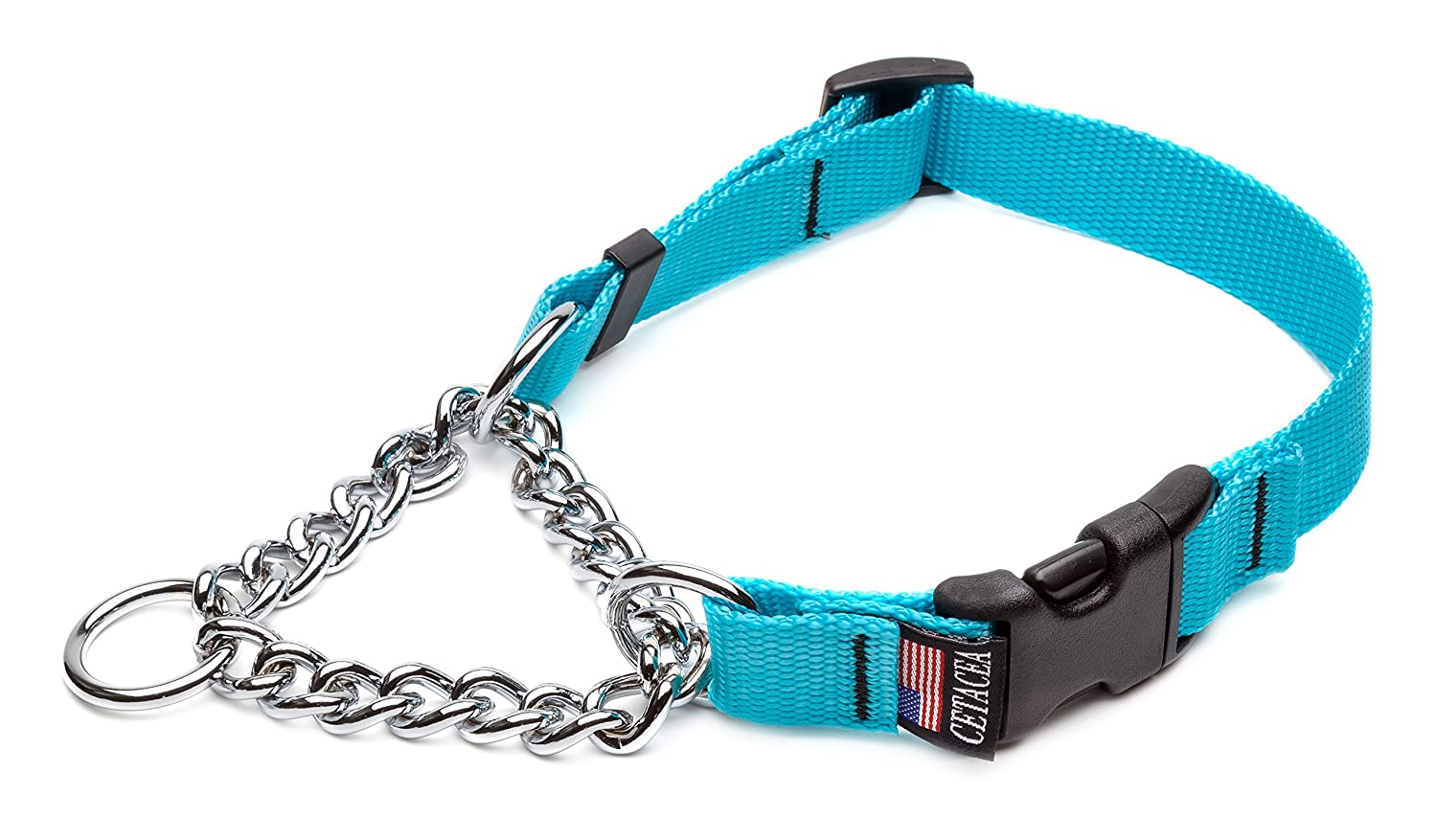 Quick Release Chain Martingale Dog Collar