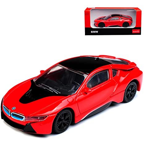 Amazon Com Rastar 1 43 Scale Bmw I8 Coupe In Red Diecast Model Car