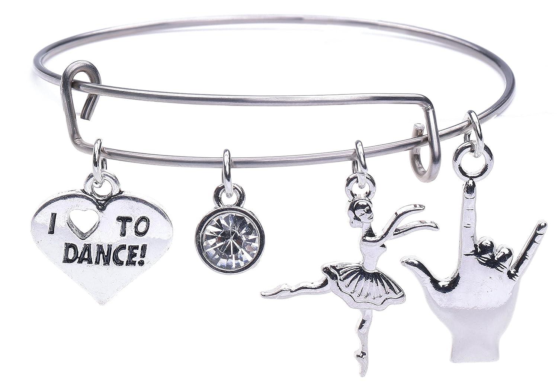 Fishhook Fashion Vintage Stainless Steel Wristband DIY Bracelet Dangling Drop Sports Pendent Bracelet for Girls Women