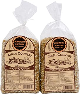 product image for Amish Country Popcorn   2 - 2 lb Bags   Mushroom Popcorn Kernels   Old Fashioned with Recipe Guide