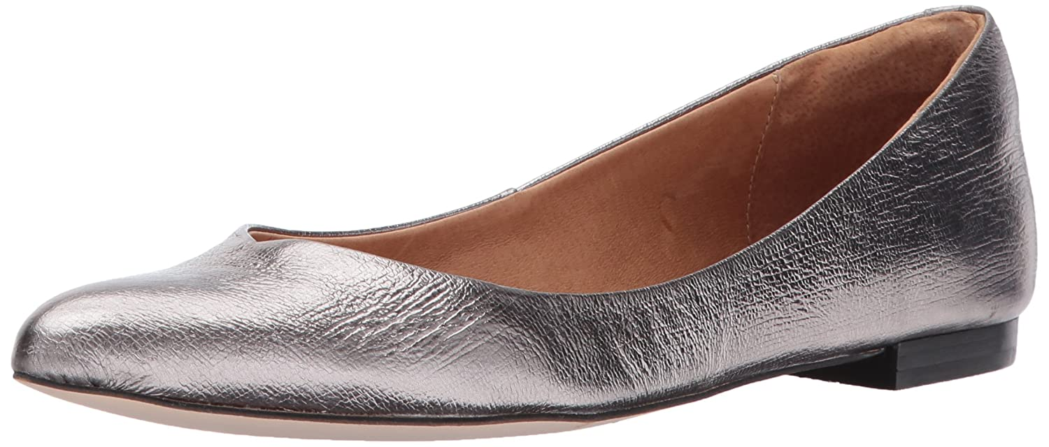 Opportunity Shoes - Corso Como Women's Julia Ballet Flat B06XR8HLGY 8 B(M) US|Pewter Cracked Leather