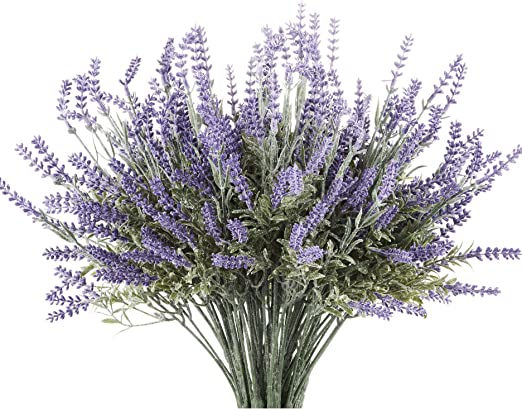 Amazon Com Butterfly Craze Artificial Lavender Plant With Silk