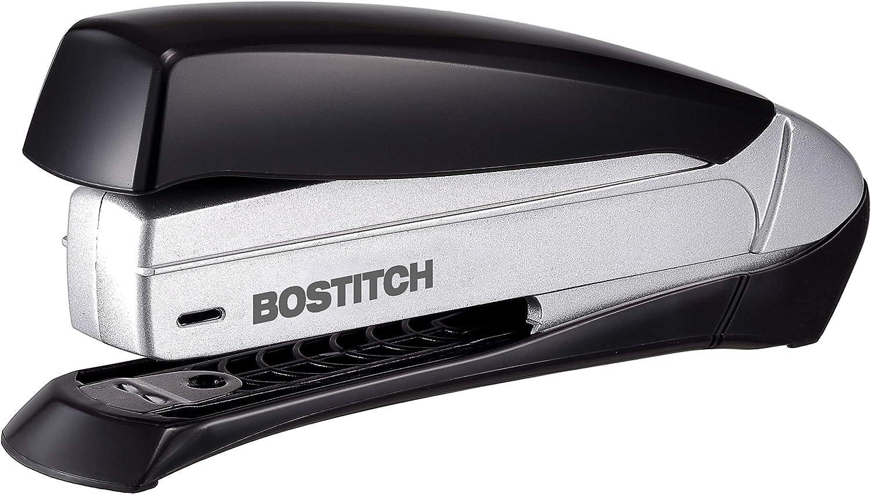 Inspire Premium Spring-Powered Desktop Stapler - Black/Silver (1433)