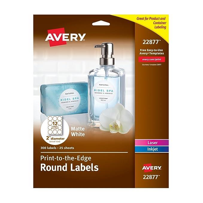 Amazon Avery Print To The Edge Round Labels 2 Diameter