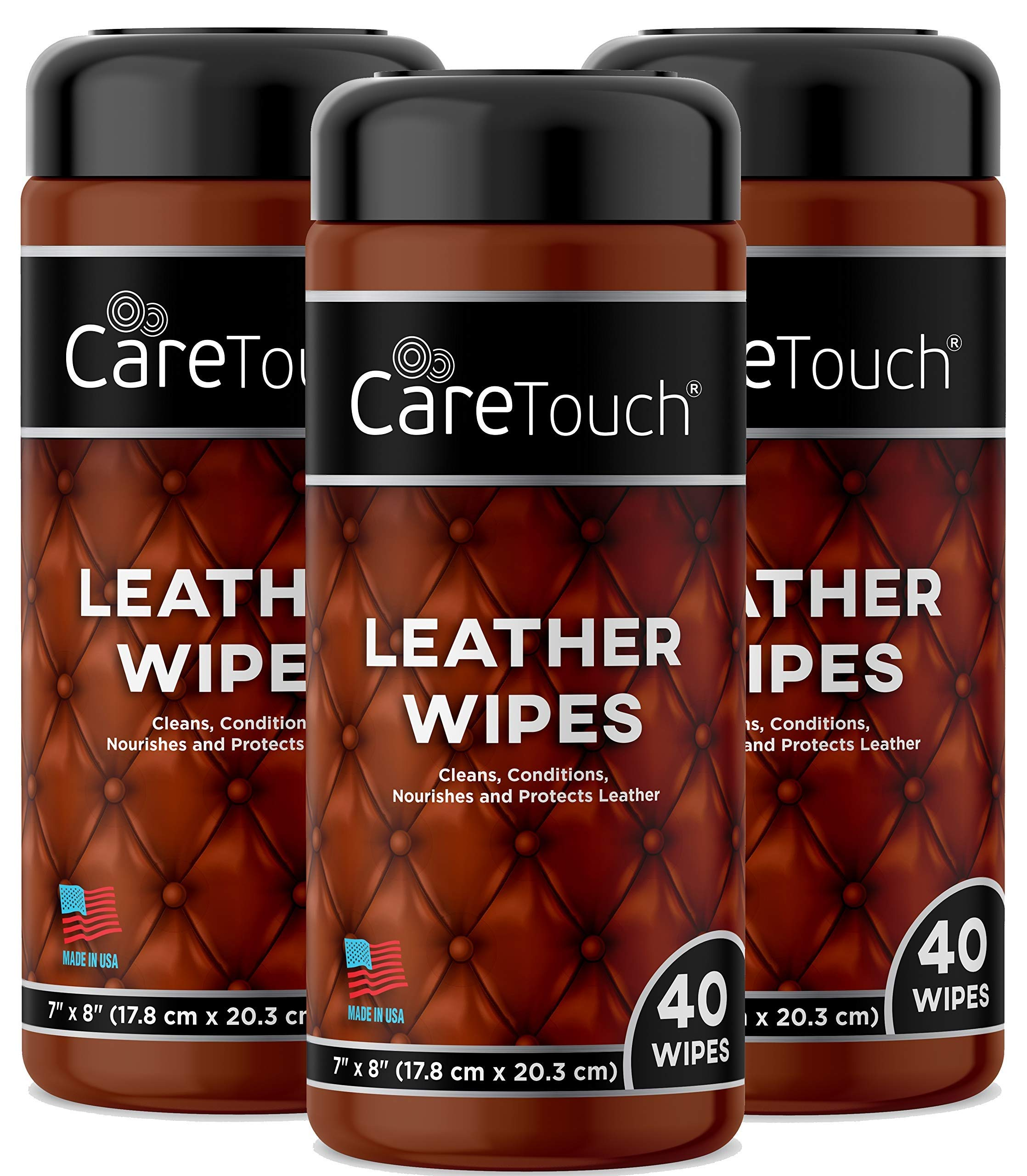 Care Touch Leather Cleaner Wipes - Pack of 3 by Care Touch