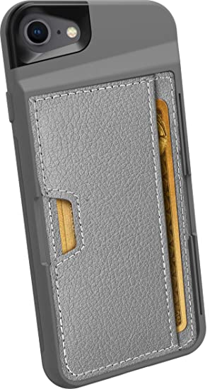 sale retailer b7c8b 085be Silk iPhone 7/8 Wallet Case - Q Card CASE [Slim Protective Kickstand CM4  Grip Cover] - Wallet Slayer Vol. 2 - Gunmetal Gray