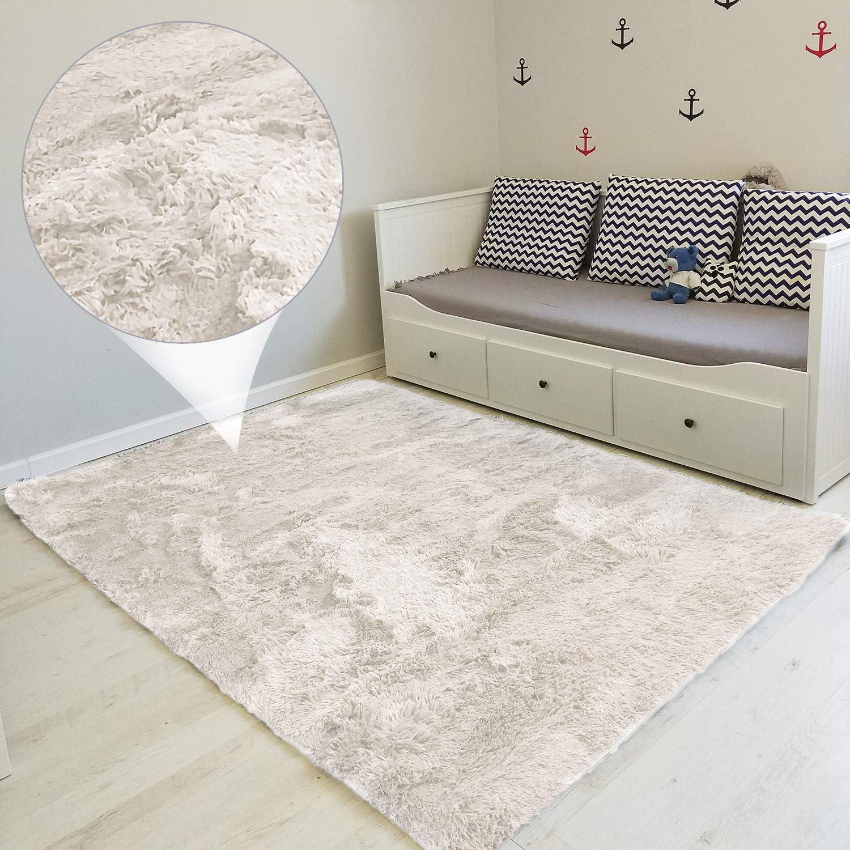 Amazinggirl alfombras Salon Grandes - Pelo Largo Alfombra habitación Dormitorio Lavables Comedor Moderna vivero 160 x 230 cm