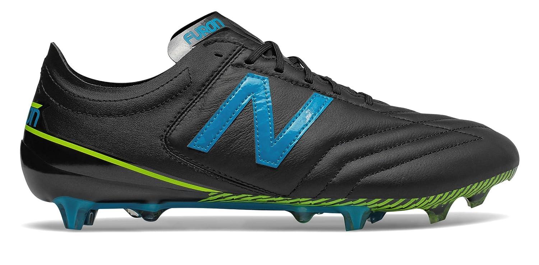(ニューバランス) New Balance 靴シューズ メンズサッカー Furon 3.0 K-Leather FG Black with Maldives Blue and Hi-Lite ブラック ブルー ハイライト US 12 (30cm) B079KM3VNQ