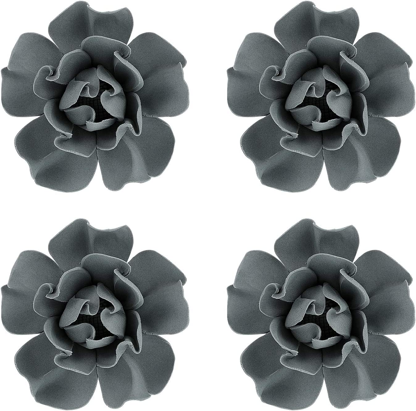 Amazon Com Vosarea 4 Pcs Ceramic Flowers Wall Decor 3d Peony Decoration Wall Sculptures Wall Hanging Decors For Living Room Bedroom House Everything Else