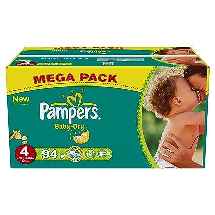 Pampers - Paquete de pañales (talla 4 maxi: 7-18 kg, 94