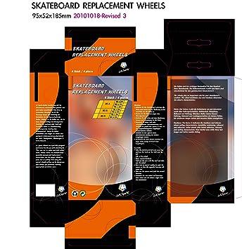 L.A. Sports - Ruedas de repuesto para tabla waveboard (4 unidades, 85A, 80
