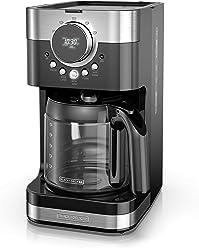 Black & Decker CM4200SC Black+Decker Select-A-Size Easy Dial Programmable Coffeemaker, Stainless Steel/Black, CM4200S, Black