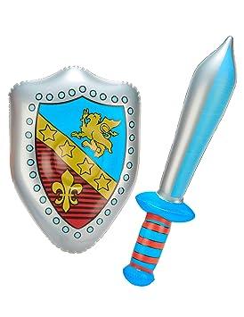 Vegaoo - Espada y Escudo hinchables - Única: Amazon.es ...