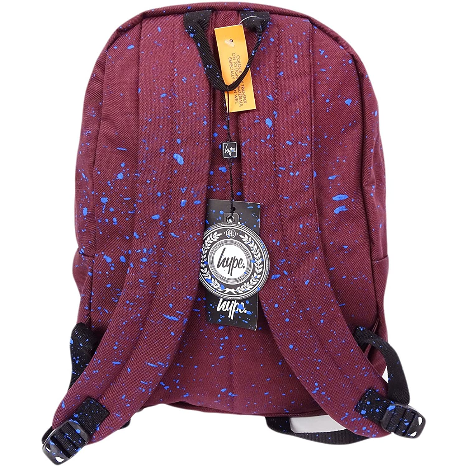 Just Hype Backpack Bag Burgundy and Blue Speckled Burgundy / Blue: Amazon.co.uk: Clothing