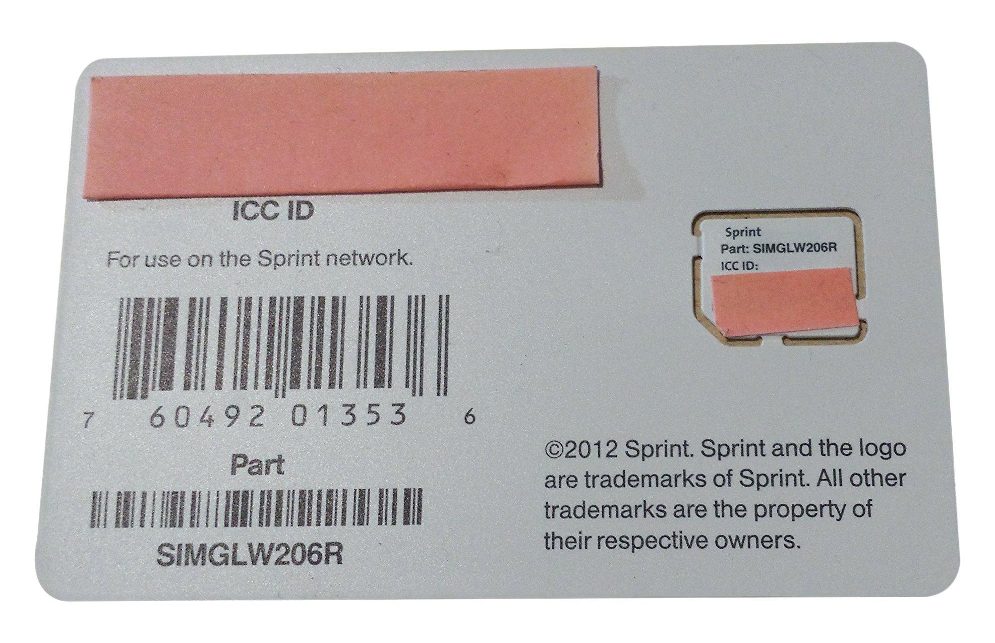 Sprint UICC ICC Micro SIM Card SIMGLW206R by Sprint (Image #1)