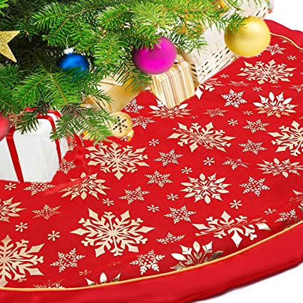 89026b5c63c94 Amazon.com  FASFF Classic Creation Large Xmas Tree Skirts